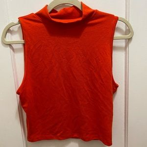 Cropped Turtleneck Tank